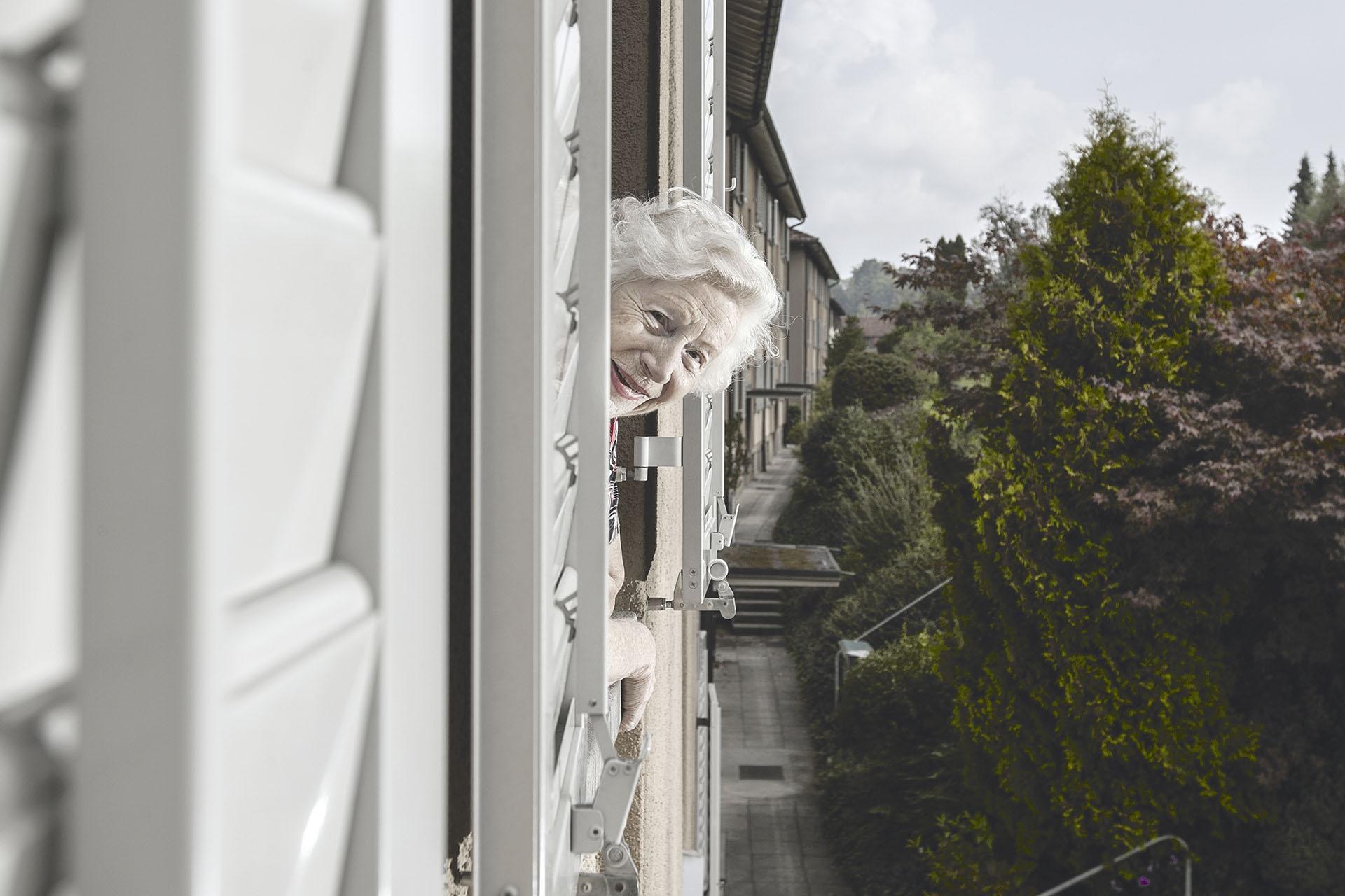 75 Jahre GWG – Jubiläumsschrift Porträts Siedlung Vogelsang, Margrith Gagliardi Fotos: Jolanda Flubacher Derungs  www.jolandaflubacher.ch